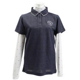 【Victoria Golf & mall店:スポーツ】ゴルフウェア レディース プリントインナーセットポロ EP51UG01 NVY