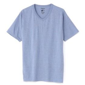 HANES VネックTシャツ メンズ 淡加工色