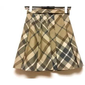 【中古】 バーバリーブルーレーベル ミニスカート サイズ34 S レディース チェック柄/刺繍