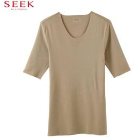 GUNZE グンゼ SEEK(シーク) Uネック5分袖シャツ(メンズ) オフホワイト L