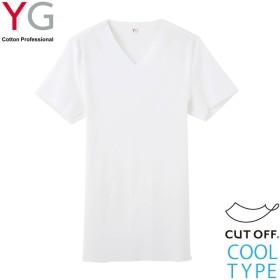 GUNZE グンゼ YG(ワイジー) VネックTシャツ(V首)(メンズ)【SALE】 ホワイト LL