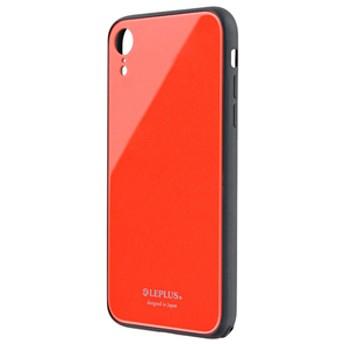 MSソリューションズiPhone XR用背面ガラスシェルケースSHELL GLASSコーラルLP-IPMGSCO