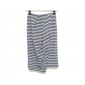 【中古】 フレイアイディー FRAY I.D スカート サイズ1 S レディース 黒 白 チェック柄