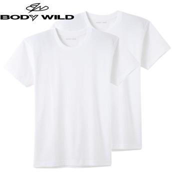 GUNZE グンゼ BODY WILD(ボディワイルド) クルーネックTシャツ 2枚組(メンズ)【SALE】 ホワイト L