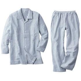 【レディース】 綿100%サッカーシャツパジャマ(男女兼用) ■カラー:ストライプ ■サイズ:5L,S,3L