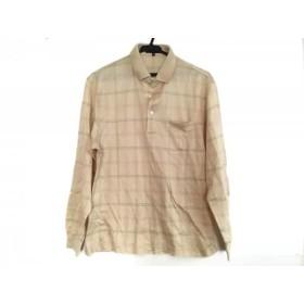 【中古】 ダックス DAKS 長袖ポロシャツ サイズM メンズ 美品 イエロー ピンク カーキ チェック柄
