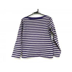 【中古】 アニエスベー agnes b 長袖Tシャツ レディース パープル ライトグレー ボーダー