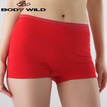 GUNZE グンゼ BODY WILD(ボディワイルド) 【直営店限定】ボクサーパンツ(1分丈)(レディース) レッド M