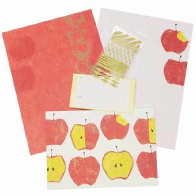 レターセット Tomoko Hayashi Letter Set 大 旬果 アップル 便箋 封筒