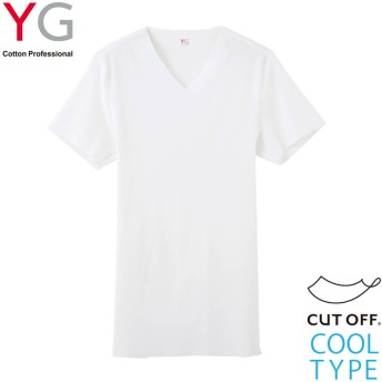 GUNZE グンゼ YG(ワイジー) VネックTシャツ(V首)(メンズ)【SALE】 ホワイト M