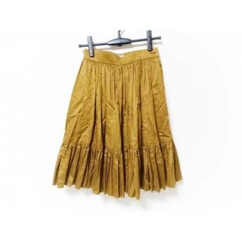 【中古】 イヴサンローラン スカート サイズM レディース ブラウン プリーツ/diffusion femmes/