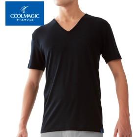 GUNZE グンゼ COOLMAGIC(クールマジック) 【サラッと綿混】VネックTシャツ(V首)(メンズ)【SALE】 ホワイト L