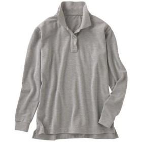 【レディース】 UVカットポロシャツ(長袖)(S-5L) ■カラー:グレー ■サイズ:L,M,LL,3L,S,4L-5L