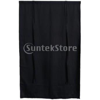 遮光カーテン カフェカーテン 睡眠グッズ 2枚 黒 102×160cm +117×160cm