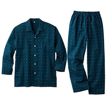 35%OFF【レディース】 綿100%ビエラシャツパジャマ(男女兼用) - セシール ■カラー:小紋柄 ■サイズ:S