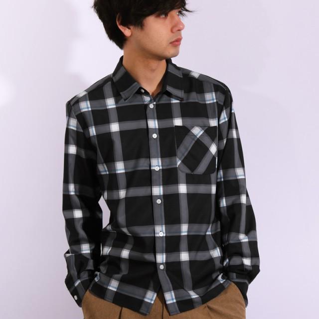 シャツ - 8(eight) チェックシャツ メンズ 長袖シャツ全5色 新作 シャツビッグシャツ チェックベージュ ブラック キャメル グレーストリート アメカジ アウトドア に♪8(eight) エイト 8