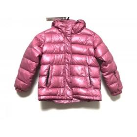【中古】 ドルチェアンドガッバーナ DOLCE & GABBANA ダウンジャケット レディース ピンク 子供服/冬物