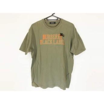 【中古】 バーバリーブラックレーベル 半袖Tシャツ サイズ3 L メンズ カーキ オレンジ