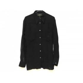 【中古】 フェンディ FENDI jeans 長袖シャツブラウス サイズ42 M レディース 黒 シースルー