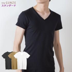 GUNZE グンゼ the GUNZE(ザグンゼ) 【STANDARD】VネックTシャツ(V首)(メンズ)【まとめ買い対象】 ホワイト LL