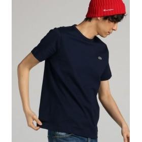 LACOSTE ワンポイントクルーネックショートスリーブTシャツ メンズ ネイビー