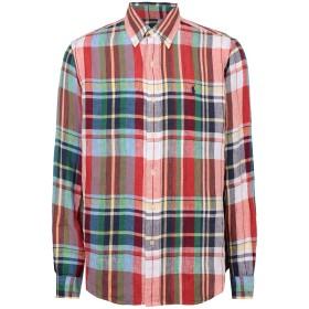 《セール開催中》POLO RALPH LAUREN メンズ シャツ レッド S 麻 100% CLASSIC FIT PLAID LINEN SHIRT