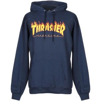 《9/20まで! 限定セール開催中》THRASHER メンズ スウェットシャツ ダークブルー S コットン 90% / ポリエステル 10%