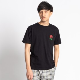 Tシャツ - WEGO【MEN】 ローズワンポイントTシャツ WE19SM03-M015
