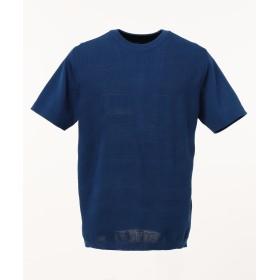 【オンワード】 23区HOMME(ニジュウサンク オム) 【洗える】RIVIERA ニット Tシャツ ブルー 48 メンズ 【送料無料】