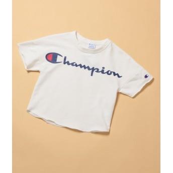 ロペピクニック キッズ/【ROPE' PICNIC KIDS】【チャンピオン】ワイドTシャツ/オフホワイト/110