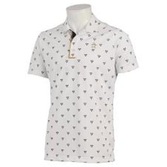 【SALE】Munsingwear(マンシングウェア)トライアングルプリントサンスクリーン半袖シャツ(19SS)MGMNGA10※返品交換不可※