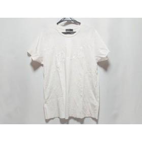 【中古】 ディーゼル DIESEL 半袖Tシャツ レディース ライトピンク 白