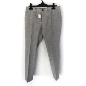 【中古】 ヒューゴボス HUGOBOSS パンツ サイズ46 S メンズ 美品 黒 白 ストライプ