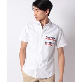 【40%OFF】 トミーヒルフィガー ショートスリーブポケットシャツ メンズ ホワイト M 【TOMMY HILFIGER】 【セール開催中】