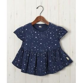 綿100%ウエスト切替フリルTシャツ(女の子 子供服) Tシャツ・カットソー