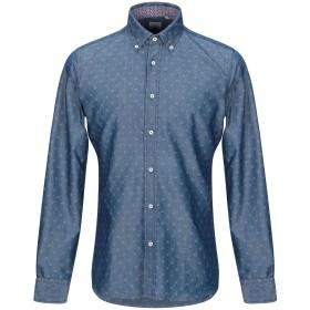 《期間限定 セール開催中》XACUS メンズ デニムシャツ ブルー 38 コットン 100%