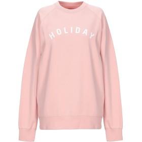 《セール開催中》HOLIDAY BOILEAU レディース スウェットシャツ ピンク S コットン 67% / ポリエステル 33%