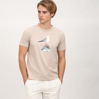 AIGLE メンズ メンズ 吸水速乾 銀イオン抗菌 COBグラフィック 半袖Tシャツ ZTH042J MISTRAL (191) Tシャツ