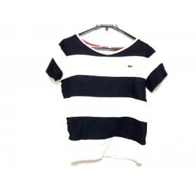 【中古】 ラコステ Lacoste 半袖Tシャツ サイズ38 M レディース 白 ネイビー ボーダー