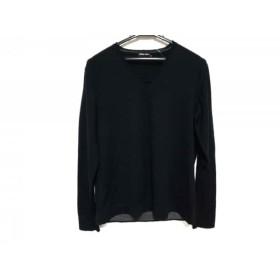 【中古】 ジョルジオアルマーニ GIORGIOARMANI 長袖セーター サイズ46 S メンズ 黒 Vネック