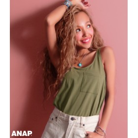 【セール開催中】ANAP(アナップ)ポケット付きタンクトップ