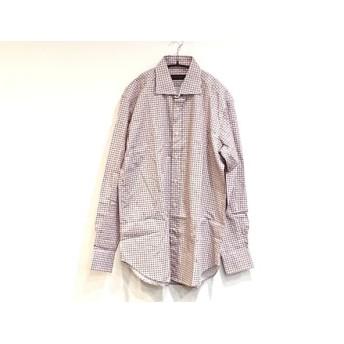 【中古】 エトロ ETRO 長袖シャツ サイズ41 メンズ 白 レッド