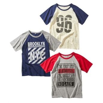 スラブ天竺プリント半袖Tシャツ3枚組(男の子 子供服。ジュニア服) Tシャツ・カットソー