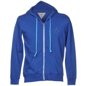《期間限定セール開催中!》MACCHIA J メンズ スウェットシャツ ブルー S コットン 100%