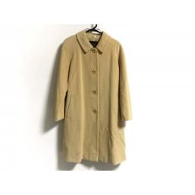 【中古】 バーバリーズ Burberry's コート サイズ9 M レディース イエロー 冬物