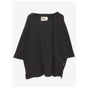 【チャイハネ】yul 無地スラブプレーンビッグシルエットTシャツ ブラック