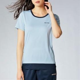 20%OFF【レディース】 Kaepa 吸汗速乾 裾レイヤード半袖Tシャツ UVカット ケイパ ■カラー:サックス ■サイズ:L,LL