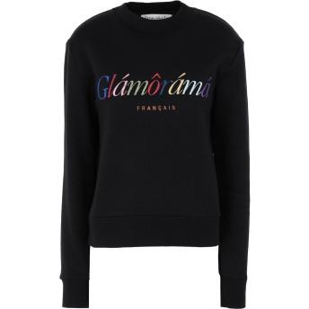 《セール開催中》TRE CCILE レディース スウェットシャツ ブラック M コットン 100% GLAMORAMA SLIM FIT SWEATSHIRT