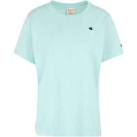 《期間限定セール開催中!》CHAMPION REVERSE WEAVE レディース T シャツ ライトグリーン XS コットン 100% Crewneck T-Shirt