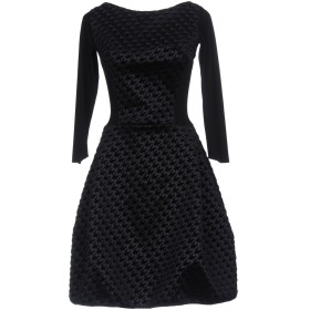 《セール開催中》CHIARA BONI LA PETITE ROBE レディース ミニワンピース&ドレス ブラック 38 ナイロン 85% / ポリウレタン 15%